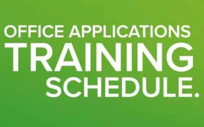 Office Applications Public Course Training Schedule