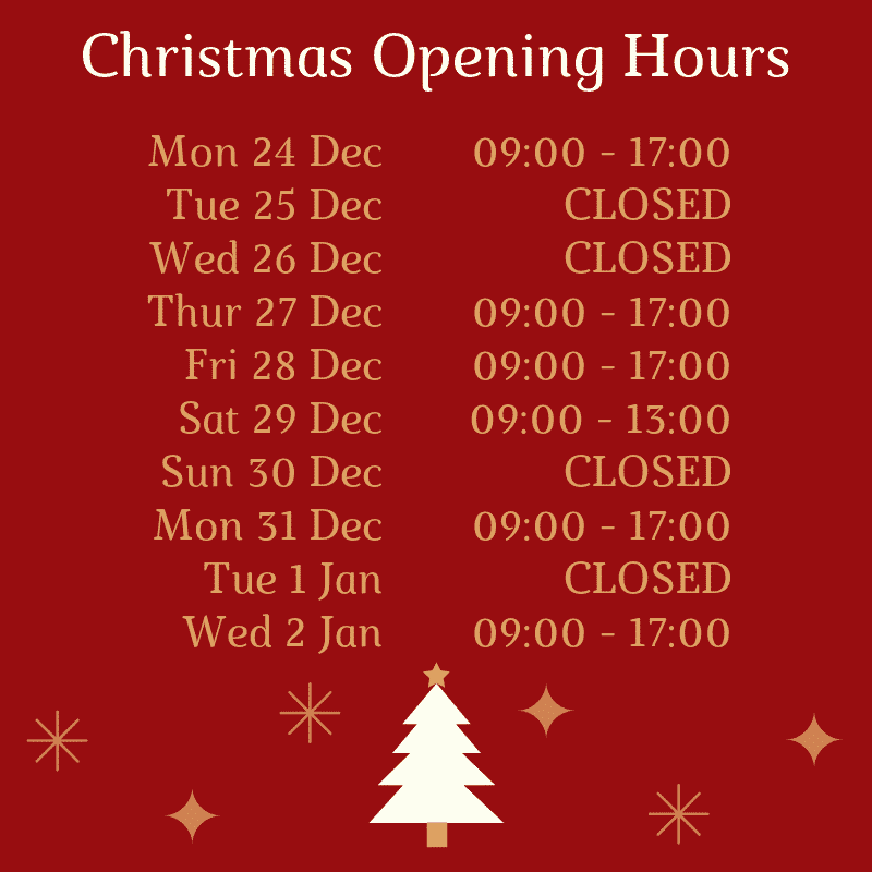 NILC 2019/19 Christmas Opening Hours