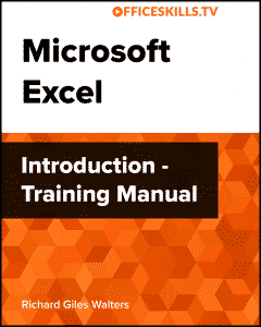 Microsoft Excel Introduction Training Manual