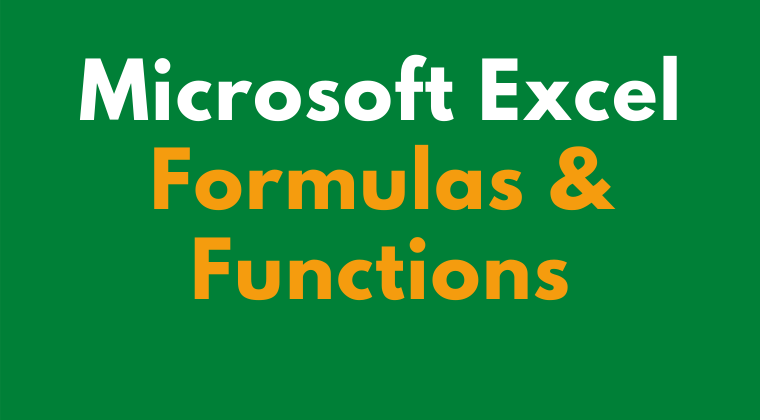 Microsoft Excel Formulas and Functions Cover Imag