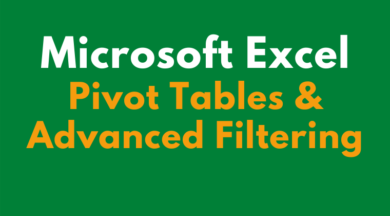 Microsoft Excel Pivot Tables Cover Image